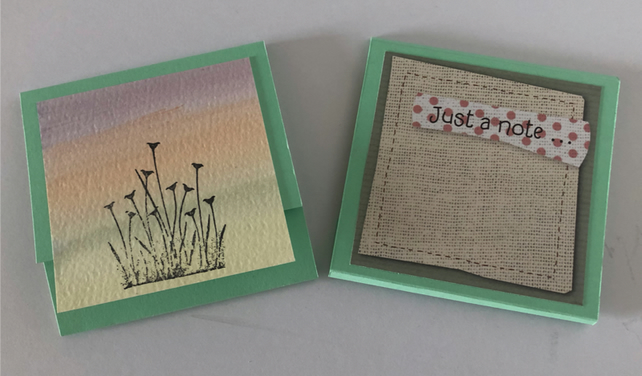 Handmade memo block with pastel paper