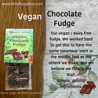 Vegan Chocolate Fudge handmade in Wales delicious traditional crumbly