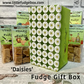 Personalised fudge gift box Daisies delicious crumbly fudge Mother's Day