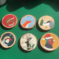 Wooden handpainted Christmas Decorations