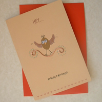 """Birthday Tweetings"" Card with Copper Branch"