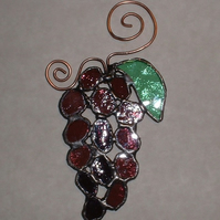 Stained Glass Grape Suncatcher