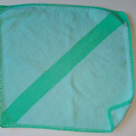 Green and Turquoise Baby Blanket