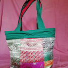 Recycled Sari patchwork Tote bag