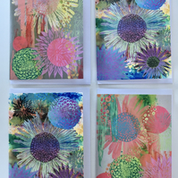 Floral Giclee Print Gift Cards Pack of 4