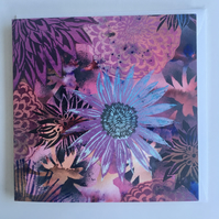 Flower Print Card 'Dahlia Dance'
