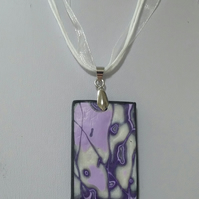 'Purples Mokume Gane' Necklace