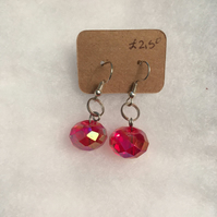 Sparkly Red Bauble Earrings