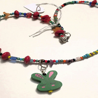 Green Bunny Necklace