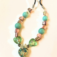 Gilded Turquoise Heart Necklace