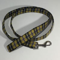 Hand made Cornish tartan dog lead