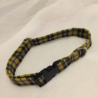Cornish tartan dog collar. Large