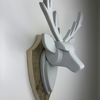 STAG HEAD Wall Mounted - Hand Crafted - Cornforth  (farrow and ball) - Faux Deer
