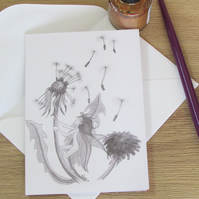 Dandelion Fairy Greeting Card