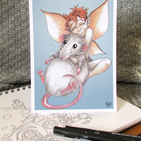 Ratty Fairy Postcard