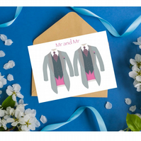 Mr and Mr Wedding Card A5 size