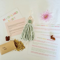 Personalised moorland fairy gift set with wildflower seeds