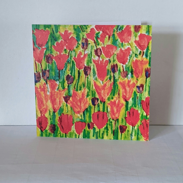 Tulip love greeting card