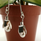 Pearl and Sterling Silver Snowdrop earrings