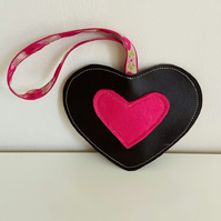 Pink Heart storage for doggie bags