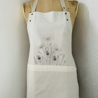 Unique embroidered floral apron