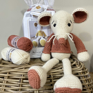 Crochet Kit - Melvin Mouse - Rust - 40cm - Luxury DIY Complete Kit