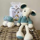 Crochet Kit - Melvin Mouse - Sage Green - 40cm - Luxury DIY Complete Kit