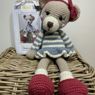 Crochet Kit - Bonnie Bear - 40cm - Luxury DIY Complete Kit