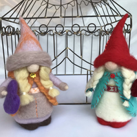 Felted Gnome, Love Gnomes,Valentines gift, Mother's Day gift