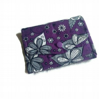Handmade alternative style purple and black small wallet