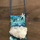Handmade mixed media, Powertex and resin necklace
