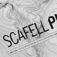 Scafell Pike Topographic Art Print Signature Design
