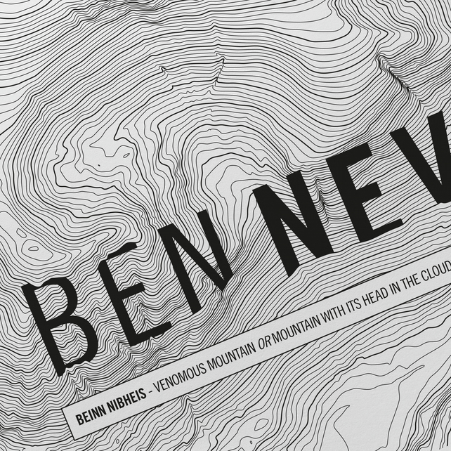 Ben Nevis Topographic Art Print Signature Design