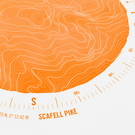 Scafell Pike Topographic Art Print Compass Design
