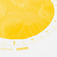 Snowdon Topographic Art Print Compass Design