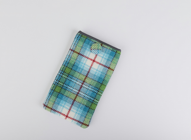 Snowdrop Tartan Large Mobile Phone Case
