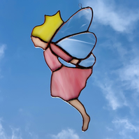 Stained Glass Fairy Suncatcher Lightcatcher Decoration
