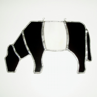Stained Glass Beltie Belted Galloway  Suncatcher Lightcatcher