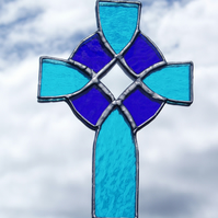 Stained Glass Celtic Cross Suncatcher Lightcatcher Decoration