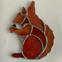 Stained Glass Red Squirrel Suncatcher Lightcatcher Gift