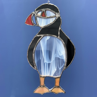 Stained Glass Puffin Suncatcher Lightcatcher Gift