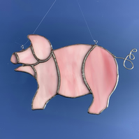 Stained Glass Pig Suncatcher Lightcatcher Gift