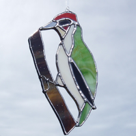 Stained Glass Woodpecker Suncatcher Lightcatcher Gift