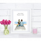 personalised happily ever after couples print