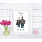personalised i love you more than couples print