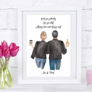 personalised i loved you yesterday couples print, couples anniversary gift