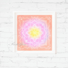 Mandala Art Print, Happy Mandala, Dream Catcher, Printable Pastel Painting,