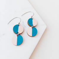 Modern Miami Wooden Earrings Unique Sustainable Jewellery