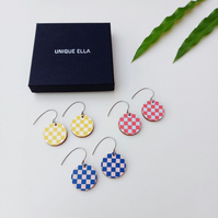 Chess Earrings Scandi Design Wooden Jewellery