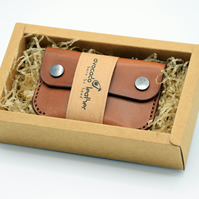 Leather card holder - Minimalist card case - Business card holder